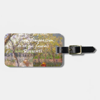 The change of the seasons renew my soul luggage tag
