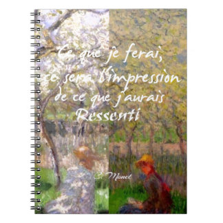 The change of the seasons renew my soul notebooks