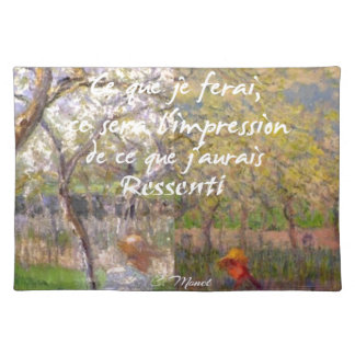 The change of the seasons renew my soul placemat