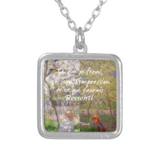 The change of the seasons renew my soul silver plated necklace