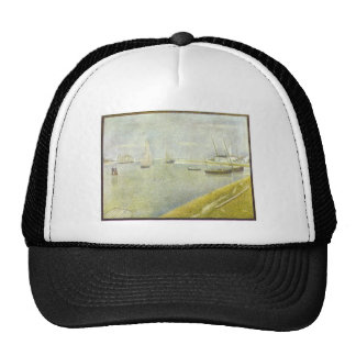 The channel of Gravelines by Georges Seurat Mesh Hat