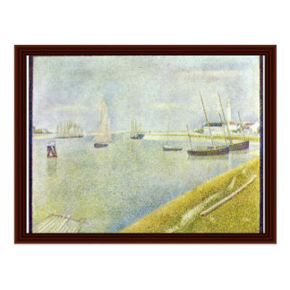 The Channel Of Gravelines By Seurat Georges Postcard