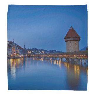 The Chapel Bridge in Lucerne Bandanas
