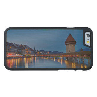 The Chapel Bridge in Lucerne Carved Maple iPhone 6 Case