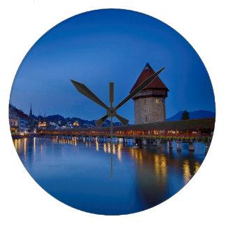 The Chapel Bridge in Lucerne Clock