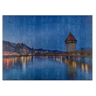 The Chapel Bridge in Lucerne Cutting Board