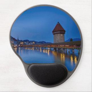 The Chapel Bridge in Lucerne Gel Mouse Pad