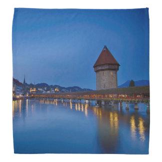 The Chapel Bridge in Lucerne Head Kerchiefs