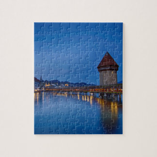 The Chapel Bridge in Lucerne Jigsaw Puzzle