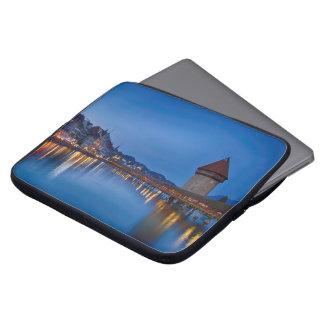The Chapel Bridge in Lucerne Laptop Sleeve