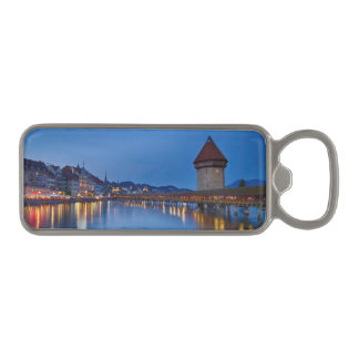 The Chapel Bridge in Lucerne Magnetic Bottle Opener