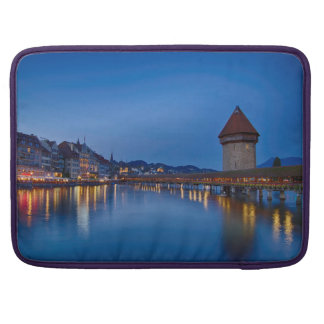 The Chapel Bridge in Lucerne Sleeve For MacBooks