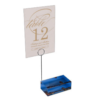 The Chapel Bridge in Lucerne Table Card Holder