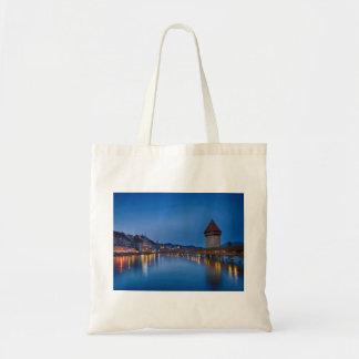 The Chapel Bridge in Lucerne Tote Bag