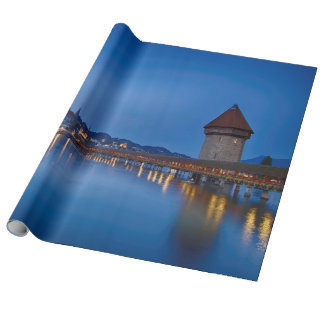 The Chapel Bridge in Lucerne Wrapping Paper
