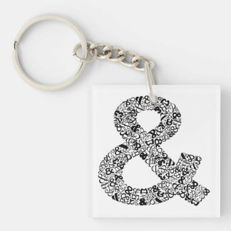 The Character Ampersand Double-Sided Square Acrylic Keychain