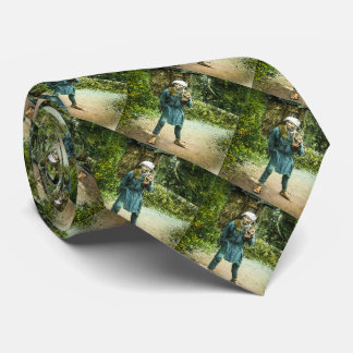 The Charcoal Merchant in Old Japan Rustic Vintage Tie