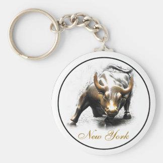 'The Charging Bull' - New York Keychain