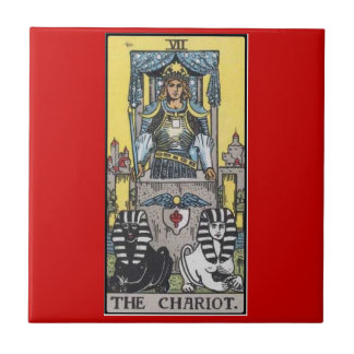 the chariot tarot tile