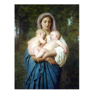 The Charity by William-Adolphe Bouguereau Postcard