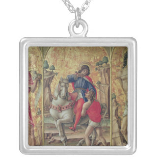 The Charity of St. Martin Silver Plated Necklace