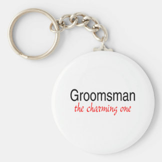 The Charming Groomsman Basic Round Button Keychain