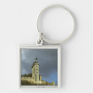 The Chateau de Chinon castletheis on a hilltop Keychain