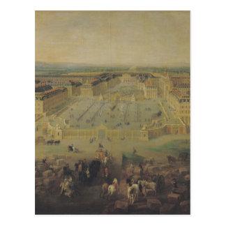 The Chateau de Versailles and the Place Postcard