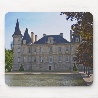 The Chateau Pichon Longueville Baron and pond Mouse Pad