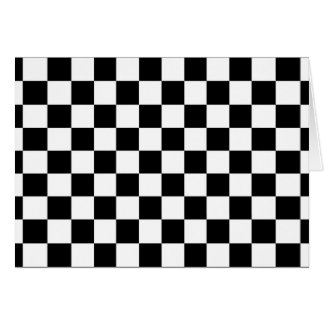 The Checker Flag Note Card