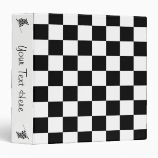 The Checker Flag Personal 3 Ring Binder