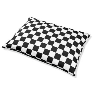 The Checker Flag Pet Bed