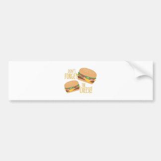 The Cheese Bumper Sticker