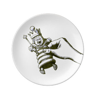 The Chess King by Tenniel Porcelain Plates