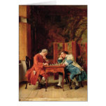 The Chess Players, 1856 Greeting Card