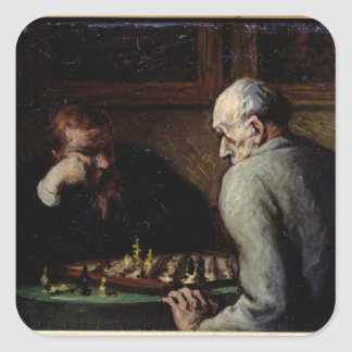 The Chess Players, c.1863-67 Square Sticker