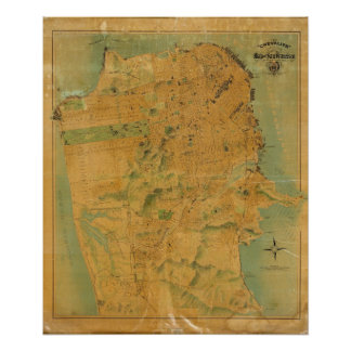 The Chevalier  Map of San Francisco Poster