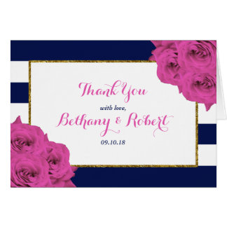 The Chic Modern Luxe Wedding Collection Pink Roses Card