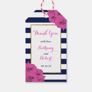 The Chic Modern Luxe Wedding Collection Pink Roses Gift Tags