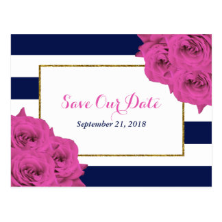 The Chic Modern Luxe Wedding Collection Pink Roses Postcard