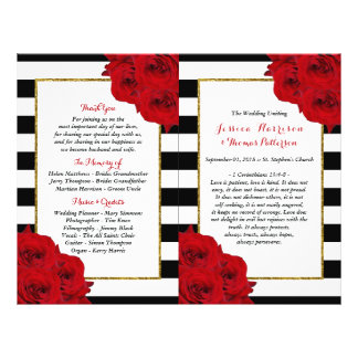 The Chic Modern Luxe Wedding Collection- Red Roses Flyer