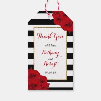 The Chic Modern Luxe Wedding Collection- Red Roses Gift Tags