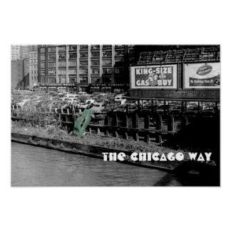 THE CHICAGO WAY ANGRY MOTORIST COLORSPLASH ANTIQUE POSTER