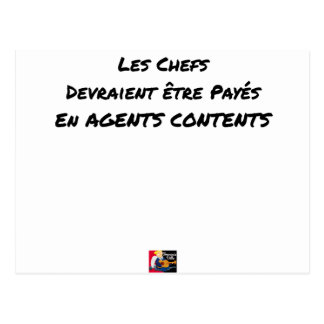 THE CHIEFS SHOULD BE PAID IN CONTENT AGENTS POSTCARD