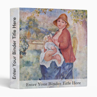 The Child At The Breast (Maternity), 3 Ring Binder
