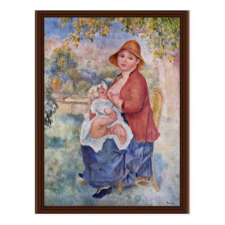 The Child At The Breast (Maternity), Postcard