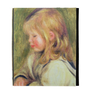 The Child in a White Shirt Reading, 1905 (oil on c iPad Folio Covers