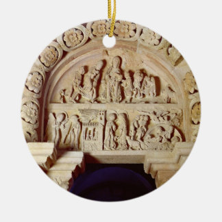 The Childhood of Christ, Tympanum of Right Portal, Round Ceramic Ornament