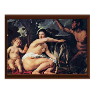 The Childhood Of Zeus By Jordaens Jacob Postcard