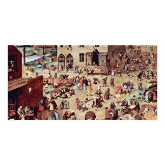 The Children'S Games By Bruegel D. Ä. Pieter (Best Photo Card